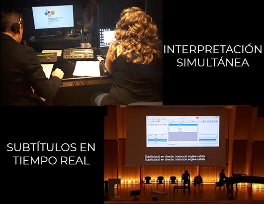 Interpretación simultánea subtitulada en tiempo real