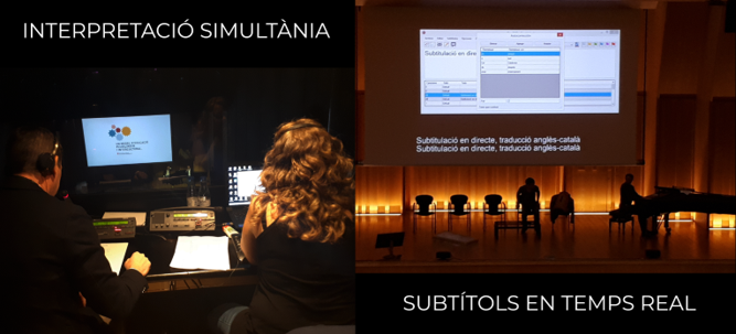 Simultaneous interpretation subtitled in real time